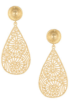 Gold plated dangler earrings by Digna