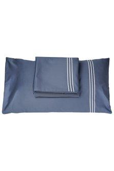 Moonlight Blue Cotton Bedsheet Set by Veda Homes