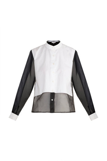 White Button Down Poplin Shirt by House of Sohn