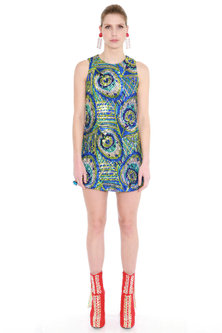 Multi Colored Embroidered Sleeveless Dress by Manish Arora