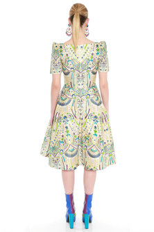 Multi Colored Embroidered Organza Dress by Manish Arora