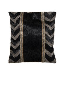 Black Embroidered Potli Bag by Inayat