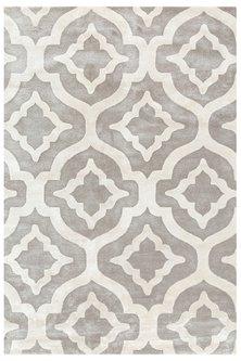 Grey & Black Rug With Geometric Patterns by Jaipur Rugs