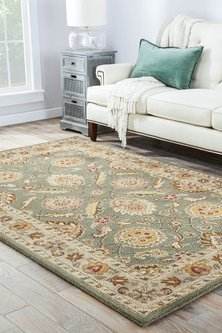 Green Rug With Traditional Pattern by Jaipur Rugs