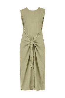 Beige Knotted Bodycon Dress by Knotty Tales
