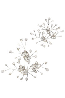 ANTIQUE SILVER ANA CRYSTAL HAIRPINS by Karleo
