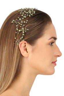 Perseus Soft Greenery Crystal Embellished Headpiece by Karleo