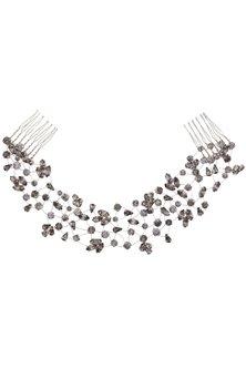 Carina Black Diamond Crystal Embellished Headpiece by Karleo