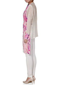 Purple & Ivory Printed Shirt With Embroidery by Limerick By Abirr N' Nanki