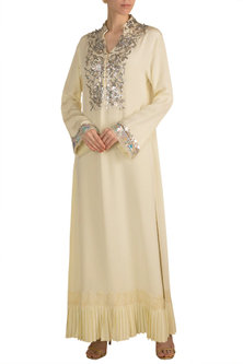 Lime Yellow Embroidered Tunic by Manish Malhotra