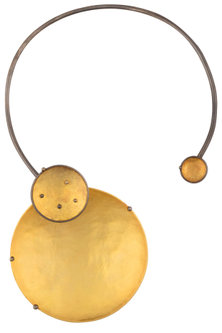 Gold Plated Eclipse Choker Necklace by Misho