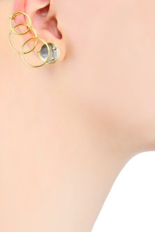 Gold Plated Flux Earrings by Misho
