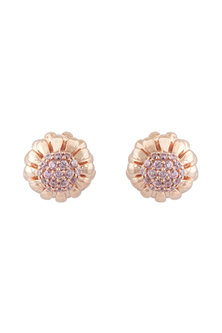 Rose Gold Finish CZ Stone Earrings by Mirakin