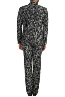 Black & White For The Throne Blazer Set by Masaba Men X GOT