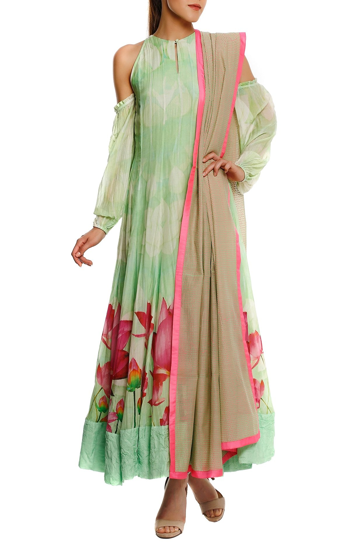Mint Green Anarkali Set by Masaba-Handpicked for You