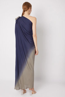 Blue & Grey Shaded Gown by Na-ka