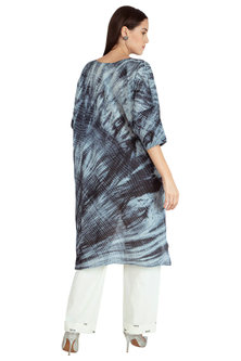 Black Hand Tied Shibori Top With Pants by Nineteen89 by Divya Bagri