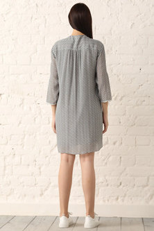 Grey Printed & Embroidered Dress by Namrata Joshipura