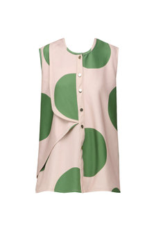Millennial Pink and Green Polka Dotted Top by Platform 9
