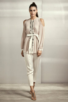 Lilac Rose Top With Texture by Rohit Gandhi & Rahul Khanna
