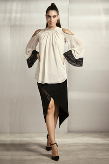 Candle White Textured Top by Rohit Gandhi & Rahul Khanna