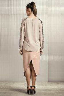 Blush Pink Textured Top by Rohit Gandhi & Rahul Khanna