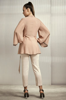 Rose Pink Shimmery Top by Rohit Gandhi & Rahul Khanna