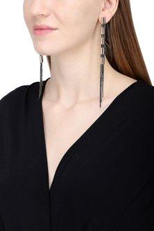 Rose Gold And Black Flute Flex Earrings by Rejuvenate Jewels