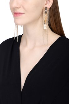 Rose Gold Chord Earrings by Rejuvenate Jewels