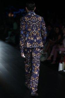 Navy Tiger Printed Suit by Rajesh Pratap Singh Men
