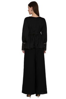Black Embroidered Top by Sheena Singh