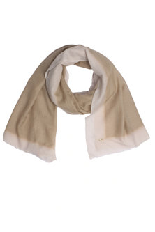Brown and peach dip dyed stole by Shingora