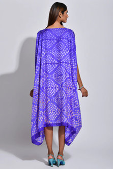 Purple Braided Printed Cape by Swati Vijaivargie