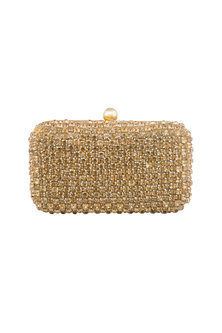Golden Stones Embellished Clutch by Tarini Nirula