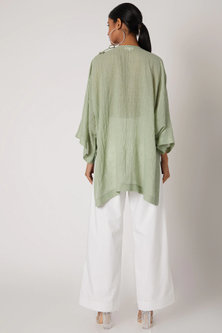 Mint Green Embroidered Top by The Grey Heron