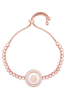 Rose gold plated crystal bracelet by TI Couture By Tania M Kathuria