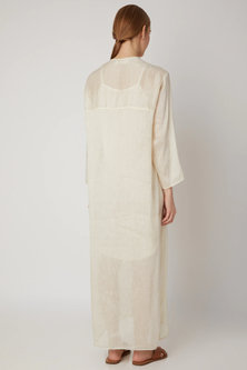 White Chanderi Silk Tunic by Urvashi Kaur
