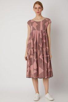 Blush Pink Organic Cotton Dress by Urvashi Kaur