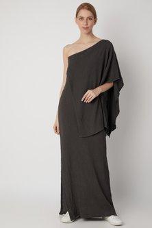 Black One Shoulder Dress by Urvashi Kaur