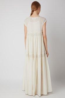 White Cotton Voile Tent Dress by Urvashi Kaur