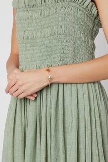 Gold Plated Orange Onyx Bracelet by Varnika Arora