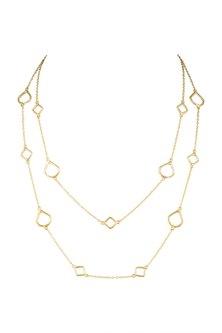 Gold Plated Handmade Adjustable Necklace by Varnika Arora