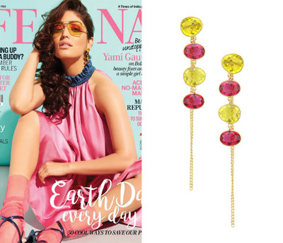 Gold plated Rill Earrings by Varnika Arora