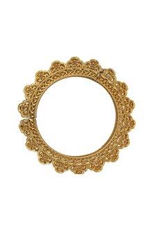 Gold Plated Freshwater Pearl Kada Bangle by Zariin