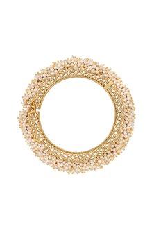 Gold Plated Kada Bangle by Zariin