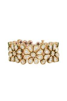 Gold Plated Openable Bracelet by Zevar by Geeta