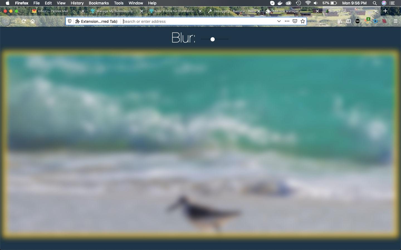 Blurred Tab