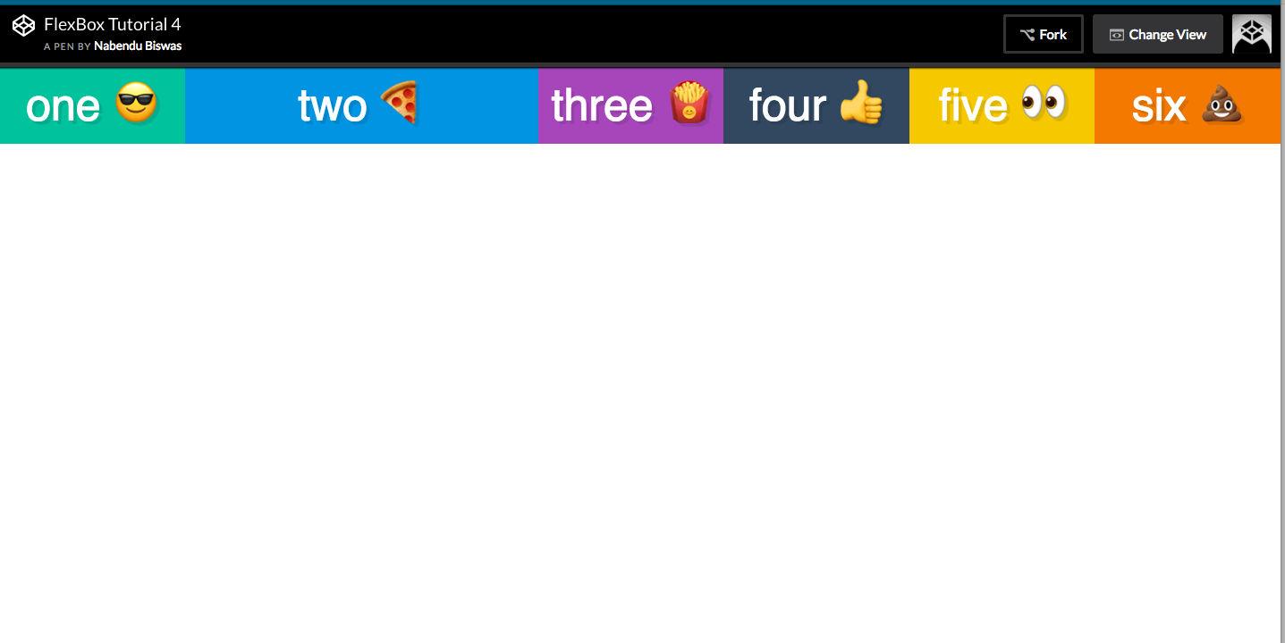 flex:2 to item2