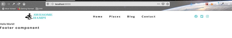 Navbar on desktop