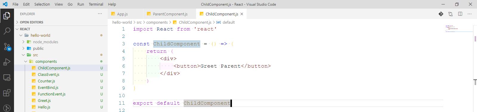 ChildComponent
